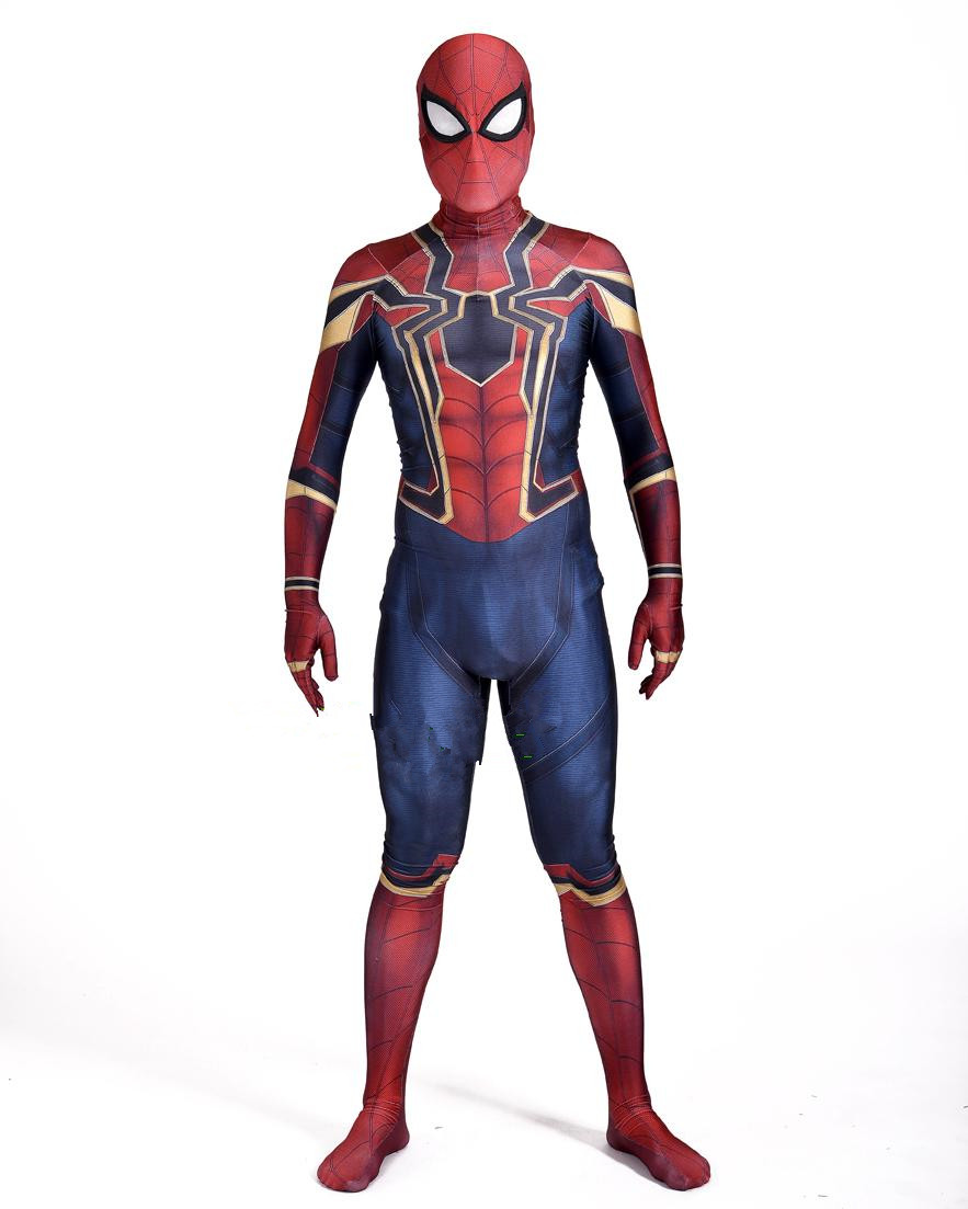 Homecoming Spiderman Costume Civil War Iron Spiderman Halloween Zentai Suit Tom Spiderman Lycra Spandex Costumes