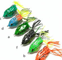 6pcs 5.5cm/14g Fishing Lures Bass Soft Frog Crank baits Top Water Floating Swimbait Saltwater Freshwater Fish Tackle Hooks