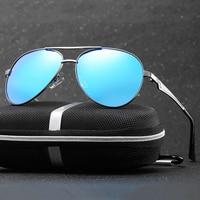 Os melhores Dos Homens Polarizados Óculos de piloto Óculos de Sol de Boa Qualidade Militar Legal Navy Clássico Estilos De Óculos De Sol da Força Aérea