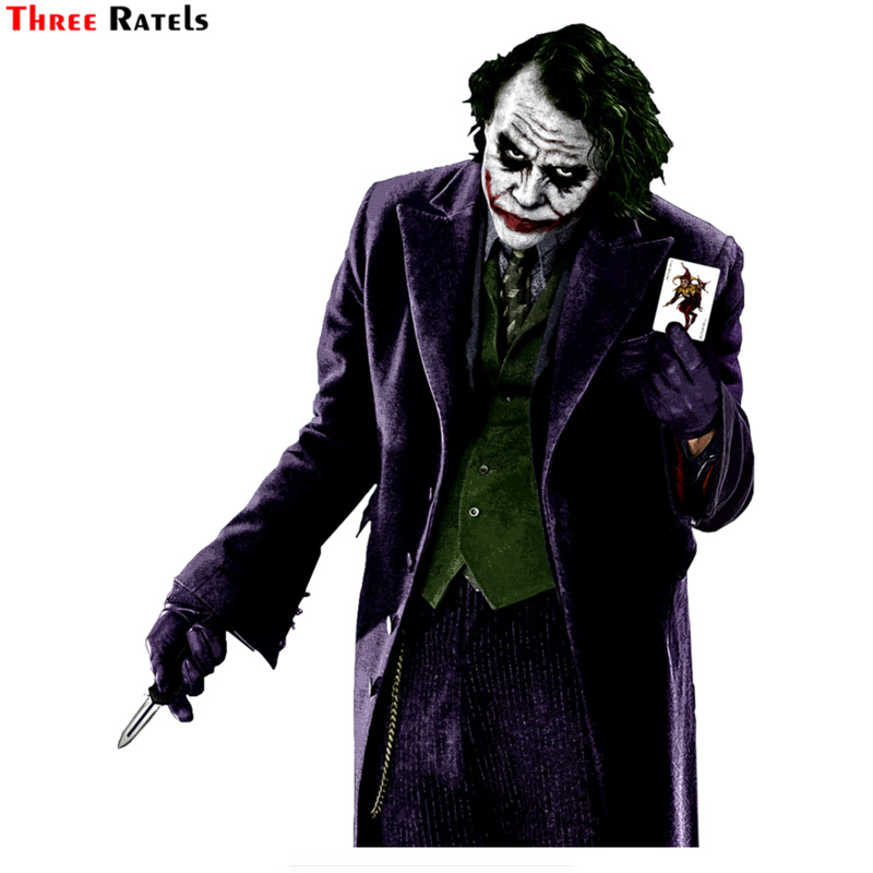 Three Ratels TRL745# 13.3x17cm joker why so serious funny car stickers car stickers and decals