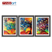 Diamond painting accessories,Diamond embroidery,5D DIY mosaic Diamant, picture of rhinestone,full round Colourful trees ZML023