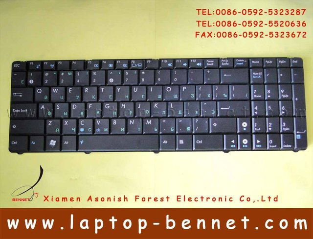 For ASUS K50 series Laptop US keyboard Black Colour