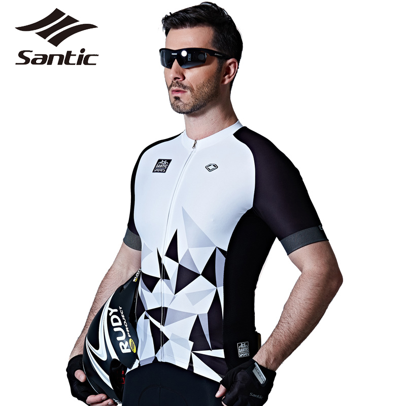 Santic maillot de cyclisme Pro Team vêtements de cyclisme été respirant vtt vélo de descente vêtements hommes sport Jersey Motocross 2017 - 2