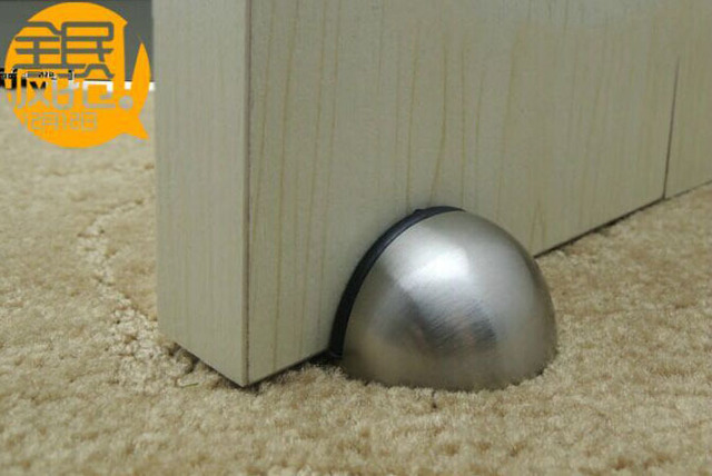 Beau Zinc Alloy Material Door Stop Dome Shape With Rubber Round Stop