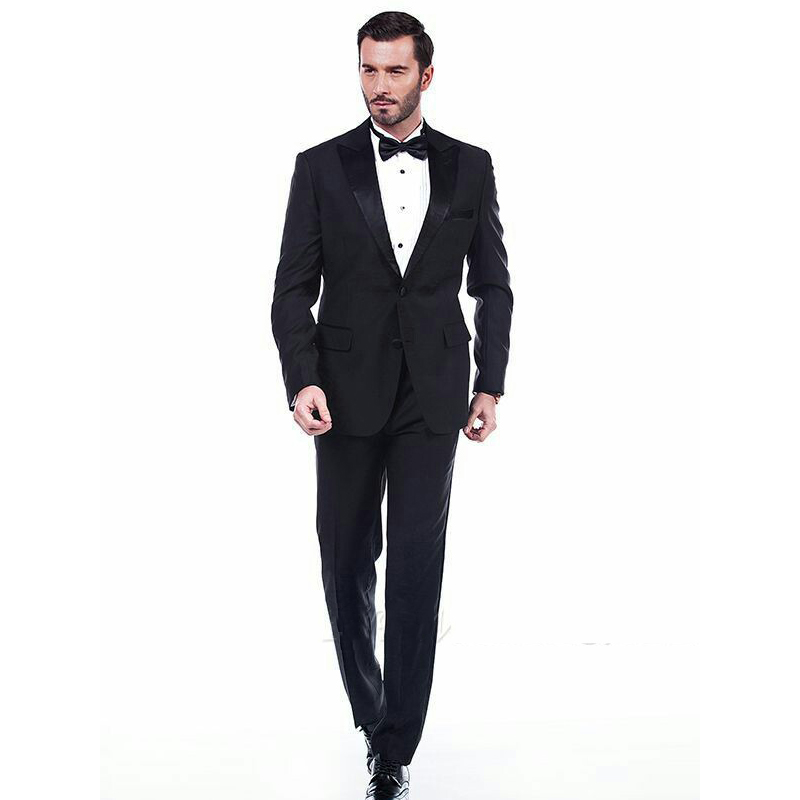 Formal Black Men Suits  Wedding Tuxedos Groom Wear Men Suits Blazers Costume Homme 2Piece Coat Trousers Slim Fit Terno Masculino