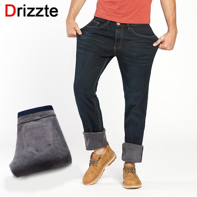 Drizzte Winter Warm Flannel Lined Stretch Denim   Jeans   Slim Fit Trousers Pants 33 34 35 36 38 40 42   Jeans   Men's   Jeans