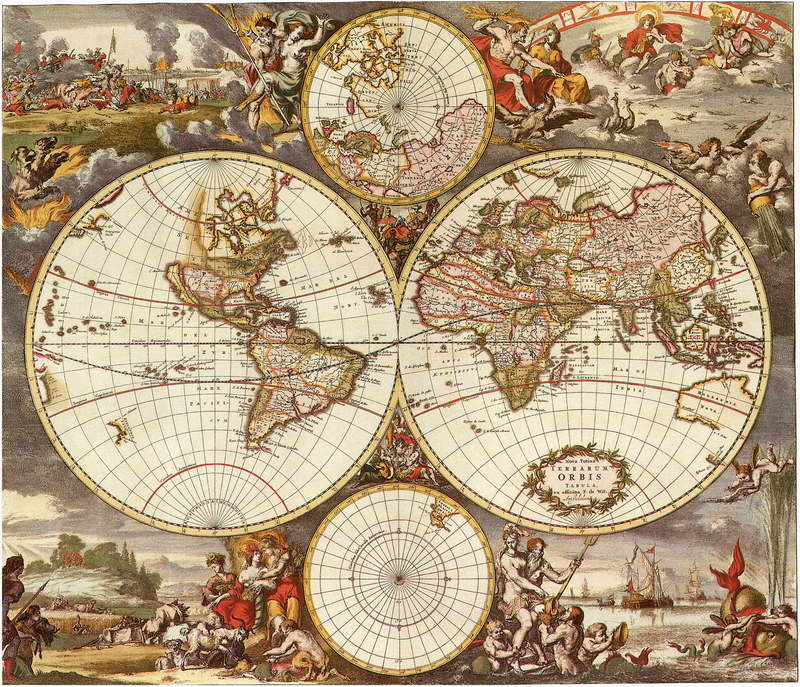 10x10ft Before Christ Bibles Life Antique World Map Custom Photo