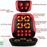 Full Body Electric Massage Chair Sofa Relax Muscle Cushion with Heating & Buttocks Roller Massager Mat
