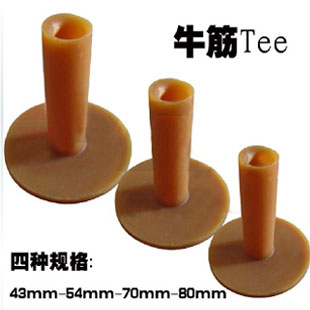 6pcs many size for choice golf Ox tendon rubber tee