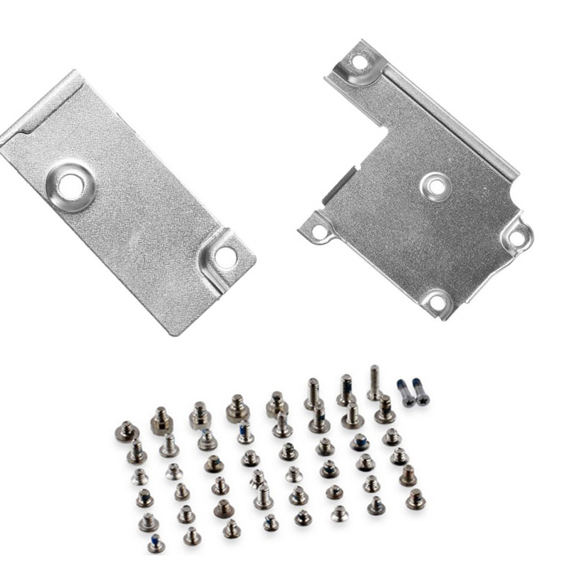 full set screws + LCD Screen Flex <font><b>Connector</b></font> Metal Bracket + Battery Metal Cover Bracket for <font><b>iPhone</b></font> 6 Plus <font><b>6s</b></font> <font><b>6s</b></font> Plus 7 7 Plus image