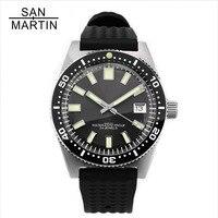 Сан Мартин 62MAS для мужчин автоматические часы нержавеющая сталь Дайвинг часы 200 м водостойкий 12 световой ободок Relojes Hombre 2018