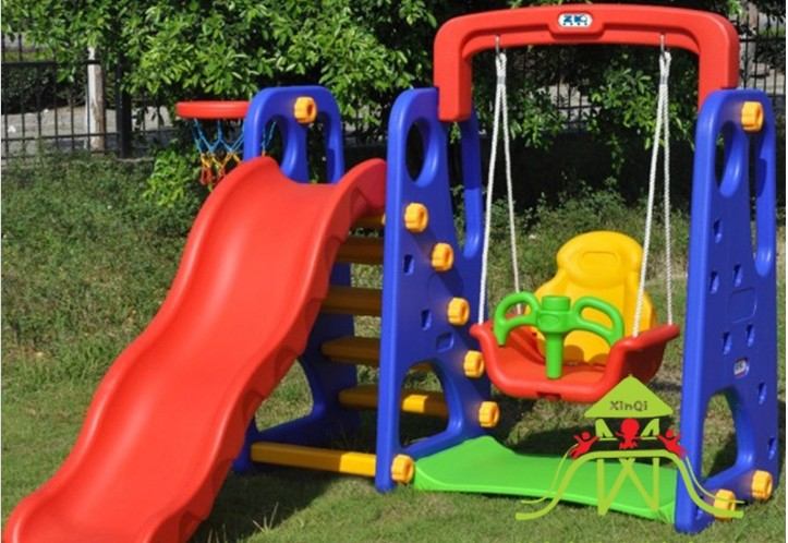 Indoor Play Equipment Baby Swing Seat Kids Slides Outdoor Garden Playground Children Slippery Set