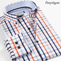2017 New Vestidos 100% Cotton New Autumn Summer Men Casual Dress Shirt  imported clothing Long Sleeve Men Shirts