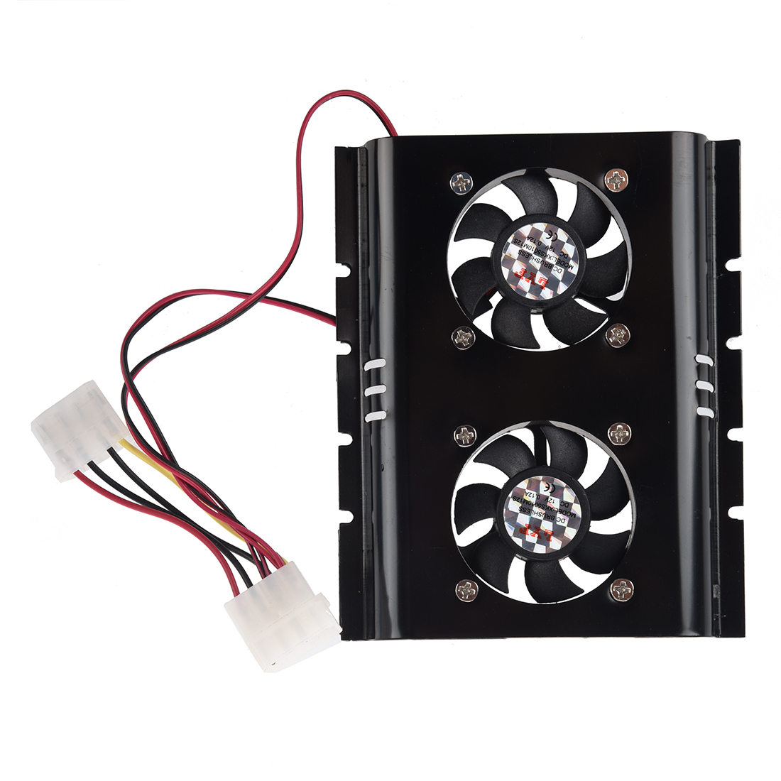 Black 3.5 SATA IDE Hard Disk Drive HDD 2 Fan Cooler for PC free shipping for hp designjet 5100 hard disk drive hdd ide or sata cg710 60009 plotter part