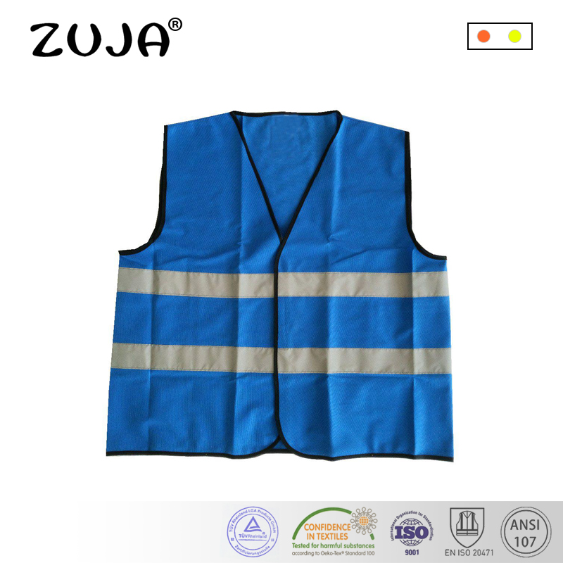 купить Blue Reflective Safety Vest Hi-vis Clothing Outdoor Traffic Work Vest