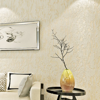 Modern 3D Non Woven Wallpaper Solid Color Wall Paper Papel De Parede Embossed Wallpapers For Living