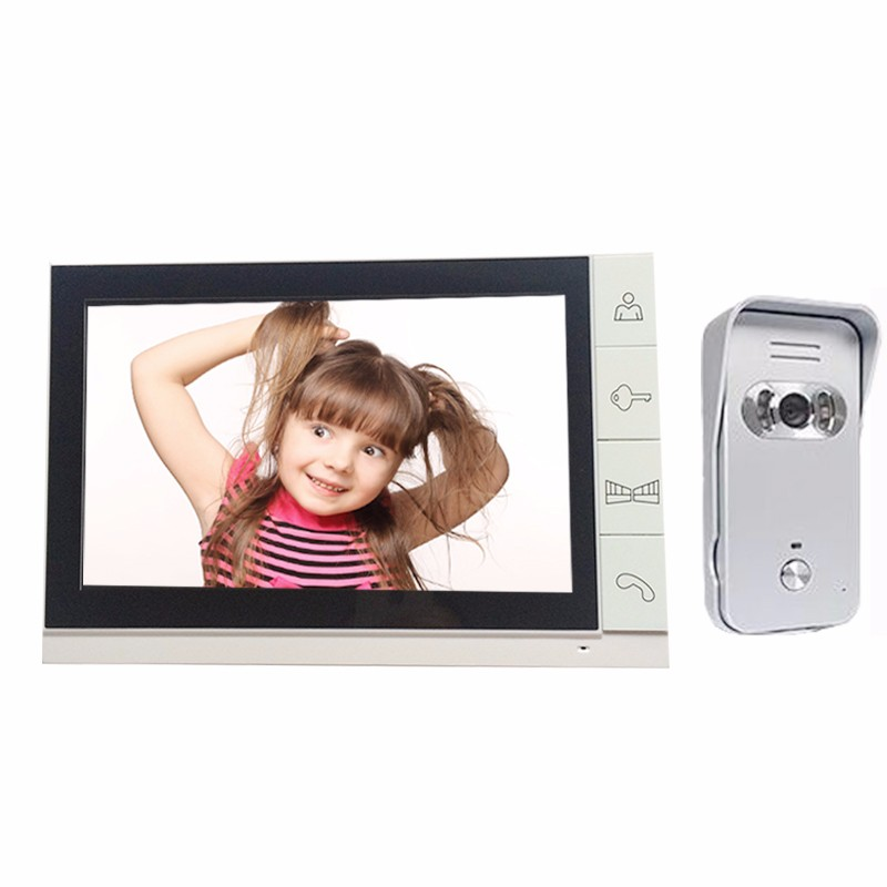New 9 Record Monitor Video Door phone Intercom System Video doorbell + Waterproof IR Outdoor Camera (1)