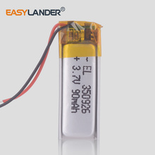 3.7V 90mAh 350926 Lithium Polymer Li-Po li ion Rechargeable Battery cells For Mp3 MP4 MP5 GPS mobile bluetooth Headset earphone цены