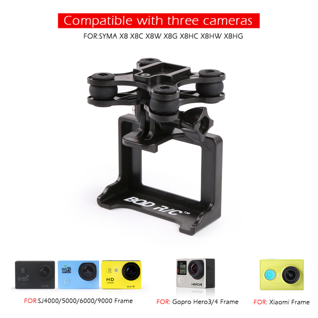 For Syma X8HG X8 X8C X8W X8G X8HW X16 Camera Holder in RC Parts Drone RC Helicopter Quadcopter with For Gopro/ Xiaomi yi Camera