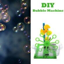 Bubble Machine Science Experiment Детские DIY домашние развивающие игрушки подарки для детей игры на открытом воздухе A1