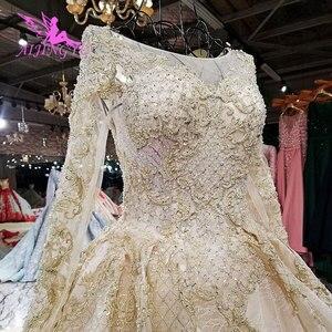 Image 5 - AIJINGYU suknia ślubna z tkaniny Cape Plus rozmiar dla panny młodej z rękawem Online nowoczesne suknie z rękawami sukienki ślubne