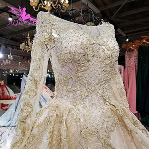 Image 5 - AIJINGYU חתונה שמלה עם גלימה בד בתוספת גודל עבור הכלה עם שרוול באינטרנט מודרני שמלות עם שרוולי כלה שמלות