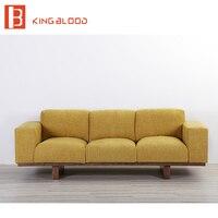 Nuevo Modelo de madera salón sofás muebles con fotos