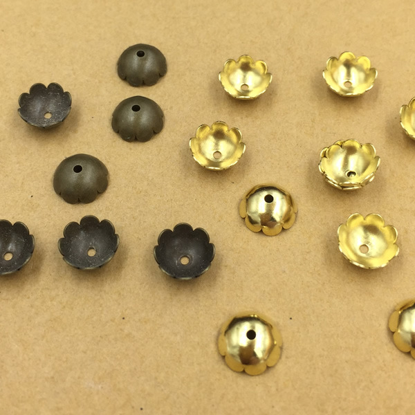 10pcs Brass Bell End Tip Bead Caps Jewelry Making Findings Antique Bronze