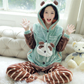 Breastfeeding Maternity Pajamas Nursing Winter Clothes For Pregnant Women Cute Warm Flannel Maternity Nightgown Nursing 70M0183