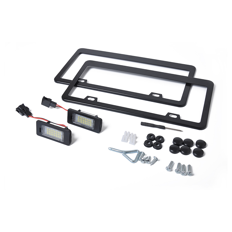 Audi A4 License Plate Frame: LED License Plate Light Frame Kit + License Plate Light