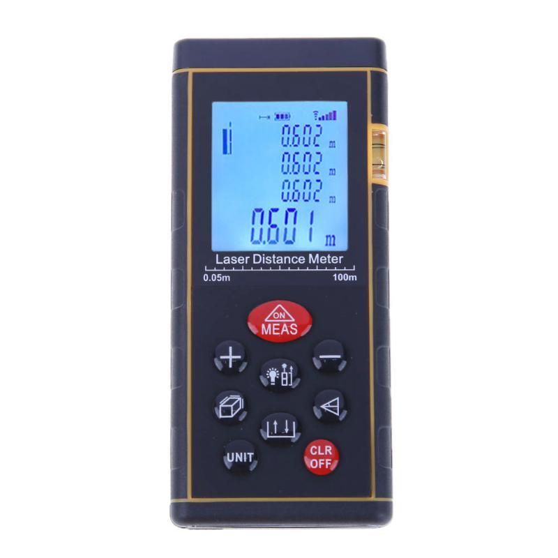 Handheld Portable Auto Laser Distance Meter100M Laser Range Finder Digital Tape infrared ruler Measure Area/volume Tool