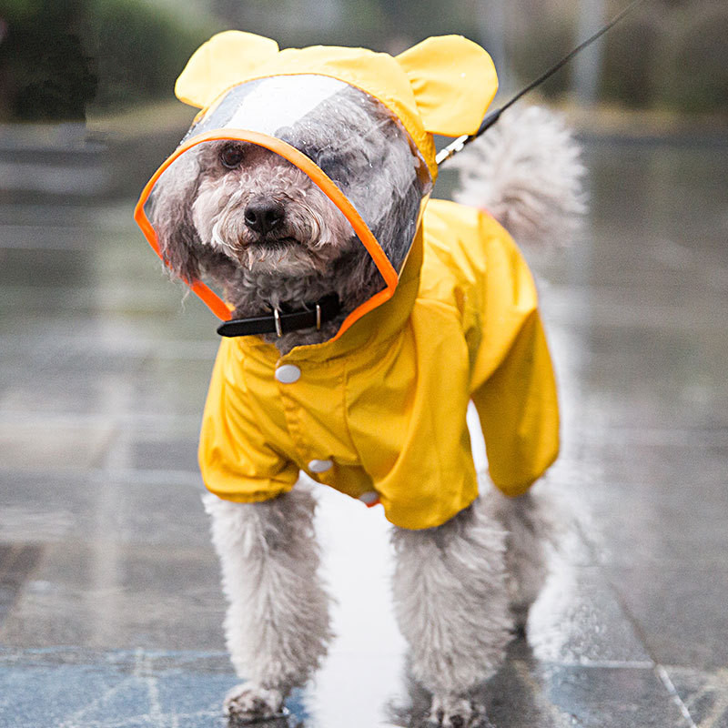 Waterproof Dog Raincoat Outdoor Breathable Dog Jacket For Small Dogs With Hood Transparent Pet Dog Puppy Rain Coat Pet Supplies