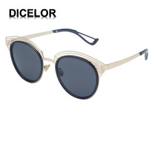 18DICELOR Brand Polarized Sunglasses Womens Semi Rimless Metal Frame Mirror Coating Eyewear Unisex Glasses font b