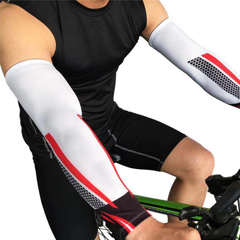 Hot Sale Uv Protection Arm Sleeves Cover For Men Cycling Arm Warmers Basketball Volleyball Bicycle Bike Arm Covers Elbow Pads Buy One Give One Men's Arm Warmers