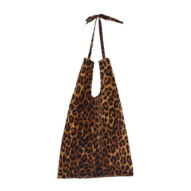 Leopard Print Canvas Bag...