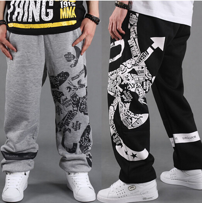New 2017 Mens Skateboard Street Dance Sweat Pants Baggy Loose Hip-Hop B-BOYS Parkour Streetwear