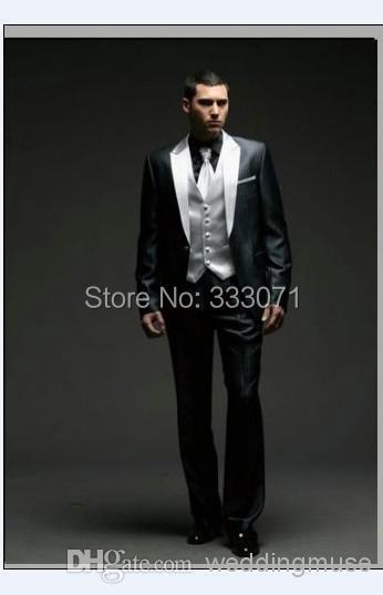 font b Custom b font font b Made b font Groom Tuxedos Best man Black