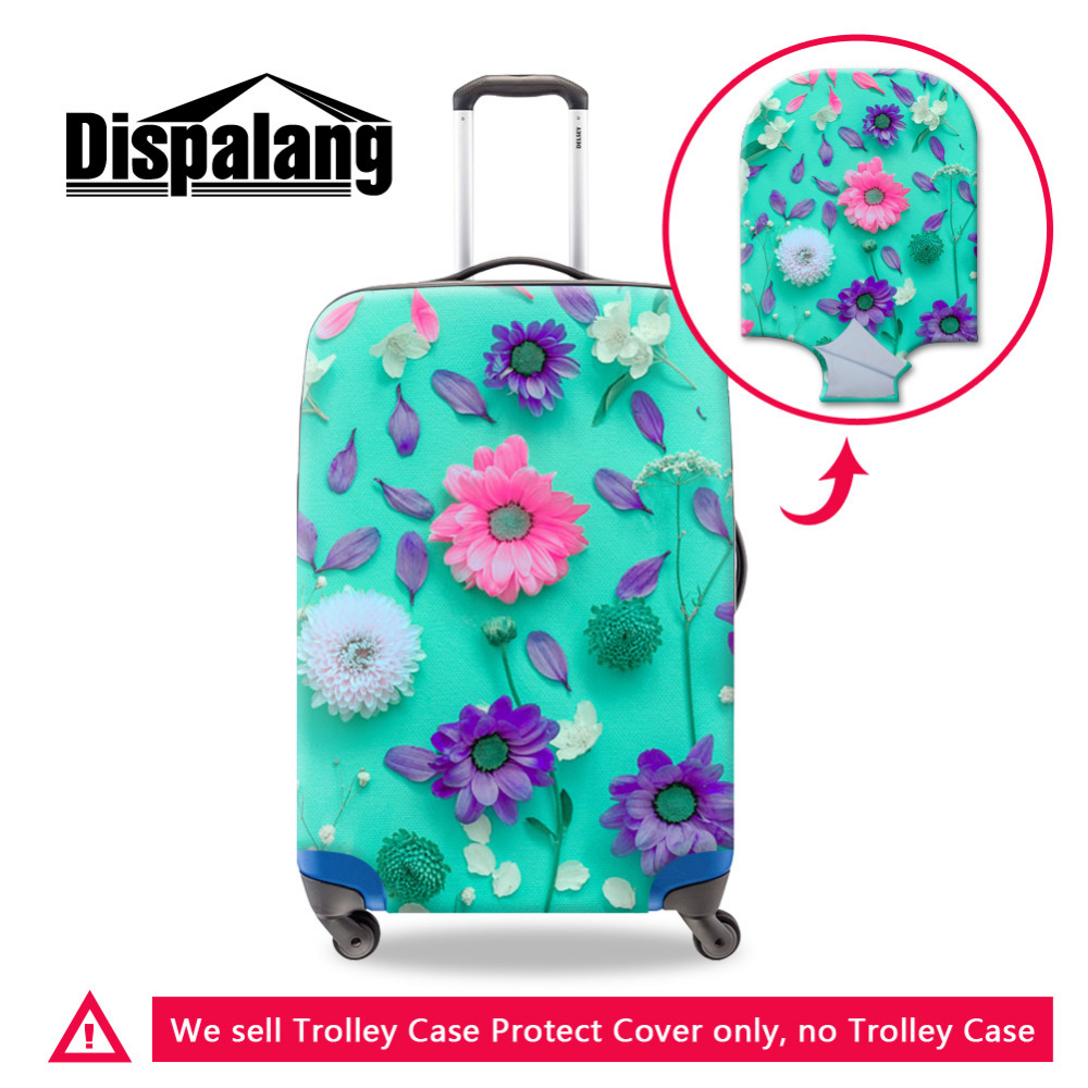 Dispalang Flower Elastic Protective Luggage Covers For 18-30 Inch Suitcases Girls Travel Accessories Portable Trolley Case Cover