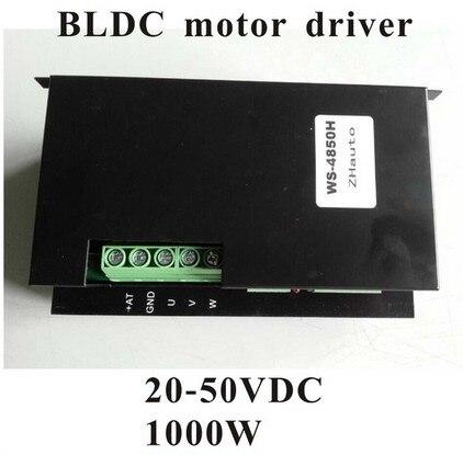 2pcs/lot 24V 48V BLDC Motor Driver 20-50VDC 1000W Brushless DC Motor Driver WS-4850 brushless dc motor driver bldc controller bld 120a for 42 brushless motor