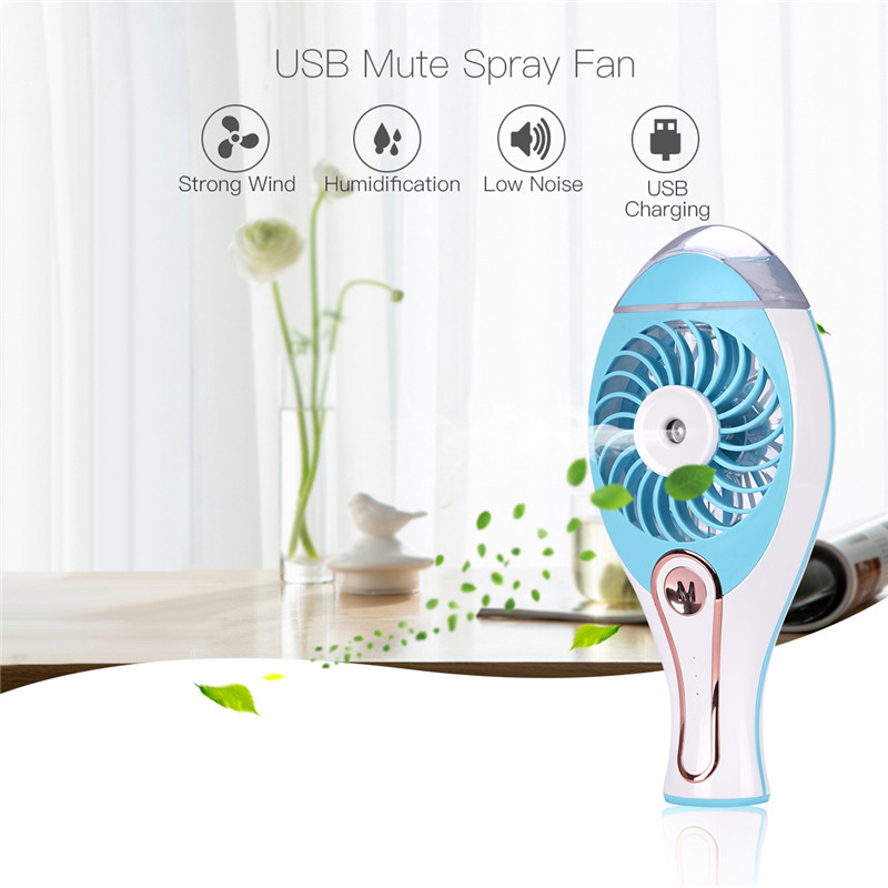 Portable Handheld Fan Electric Humidifier Fan USB Humidifier Air Condition Cooler Misting Mist Fan Spray Fans Mini Cooling