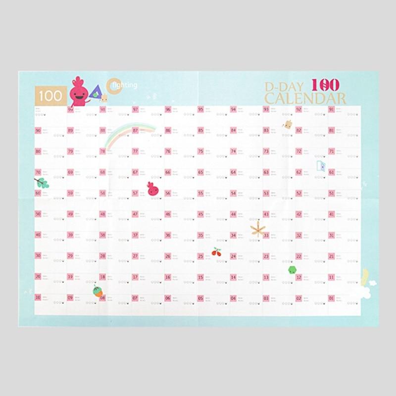 Doelstelling 100 Dag Countdown Kalender Leren Schema Periodieke Planner Tafel Gift Voor Kinderen Studie Planning Leren Levert