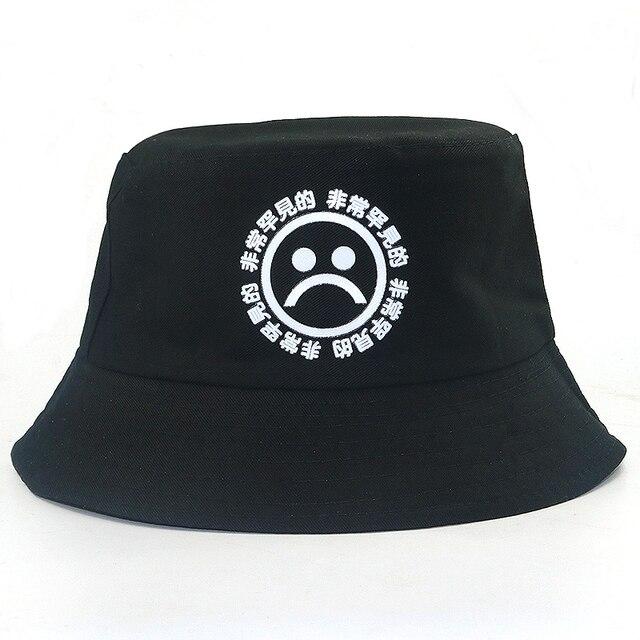 ad374614f34 high quality unisex cotton sad boy bucket hat travel cap women men  fisherman hats casual caps fashion hat black fashion Panama