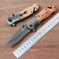 Browning X50 Folding Knife Titanium Steel Blade Wooden Handle Outdoor Camping Hunting Tactical Knife Survival EDC