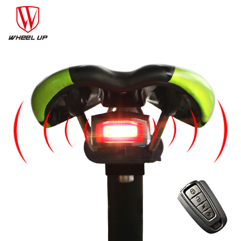 4 In 1 Anti-theft Wireless Remote Control Bike <font><b>lights</b></font> Bicycle Taillights Bike Rear Bicycle pattern 2017 new Free Shipping Leds