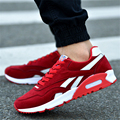 2017 Men's Fashion Air Cushion Casual Shoes Men Lace-up Red Blue Spring Autumn Walking Jogging Shoes Mens Trainers zapato 39-44