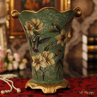 European style of the ancient painted ceramic vase decoration fashion houses painted ceramic flower special offer
