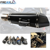 51 61mm Modified motorcycle exhaust pipe muffler carbon fiber exhaust pipe For Yamaha YZF R1 R6 R6S MT09 MT 09 FZ6 FZ8 FZ1 XJR