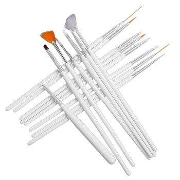 Bevigac 15 unids/set, pinceles de Arte de uñas para Gel UV, laca de uñas, barniz, pintura, detalle, pincel de dibujo, pincel de unha