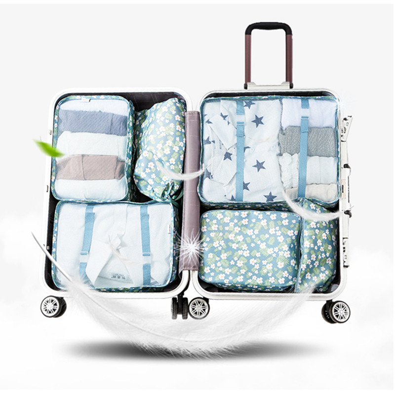 Upgraded version 6 travel suit underwear socks packaging cube bag organizer six size set package garment bag
