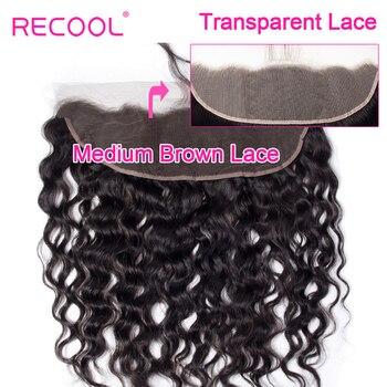 Perruque Lace Frontal wig transparente HD ondulée-Recool   Cheveux brésiliens naturels, pre-plucked, oreille à oreille, Baby Hair